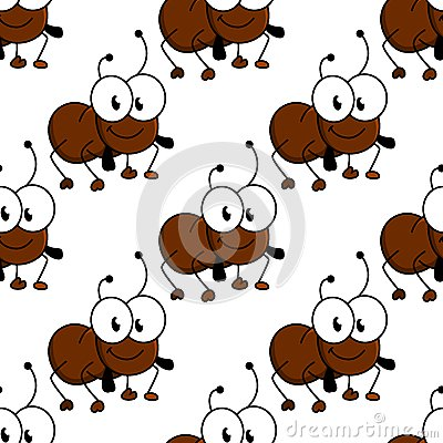 Free Cute Little Cartoon Ant Seamless Pattern Royalty Free Stock Photography - 46364467