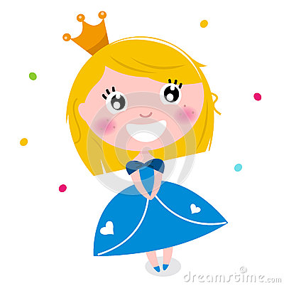 Cute little cartoon princess