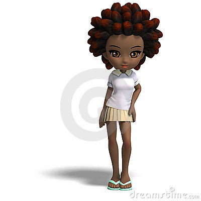 cartoon girl with brown hair and brown. cartoon girl with rown hair