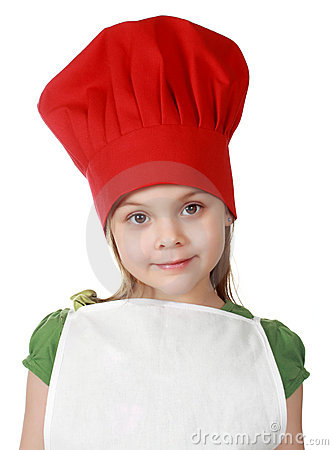 Cute little chief cook