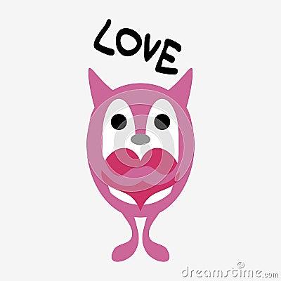 Cute little creature in love