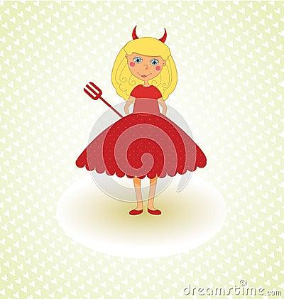 Free Cute Little Devil Royalty Free Stock Photo - 44724805