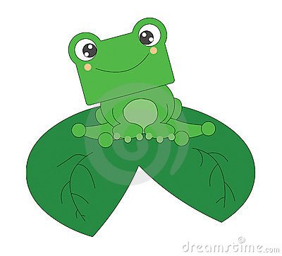 Cute little frog isolated on white background