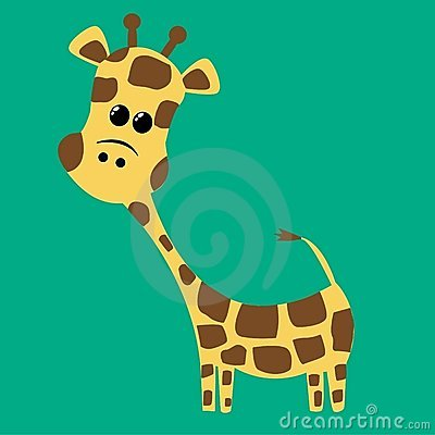 A cute little giraffe