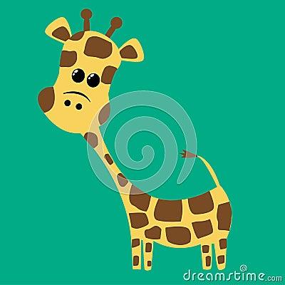 A cute little giraffe
