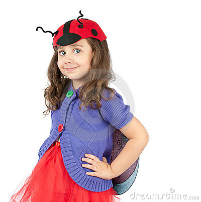 Cute little girl in costume