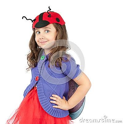 Cute little girl in costume
