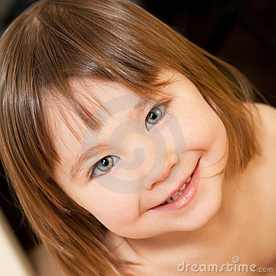 Cute little girl indoors