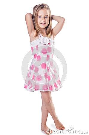 Cute little girl isolated