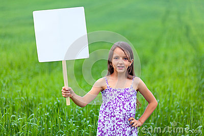 Cute little girl on neutral background