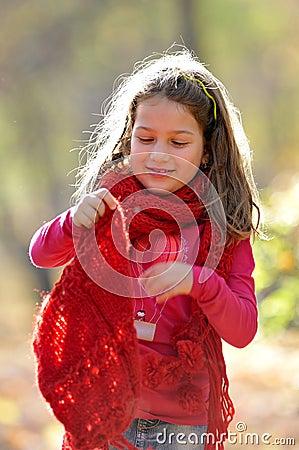 Cute little girl outdoor