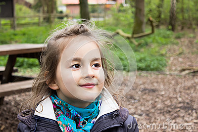 Cute little girl on the park