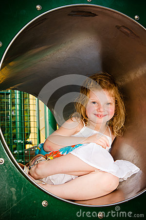 Cute Little Girl Playing Stock Photos - Image: 25272823