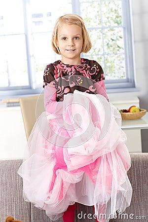 Cute little girl playing princess