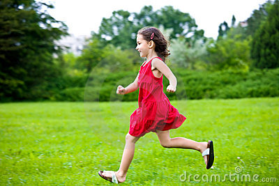 Cute Little Girl Running Stock Photos - Image: 20826263