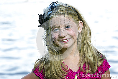 Royalty Free Stock Photography: Cute little girl standing in front of