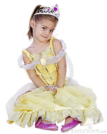 Free Cute Little Girl With Princess Dress On Royalty Free Stock Photography - 10670847