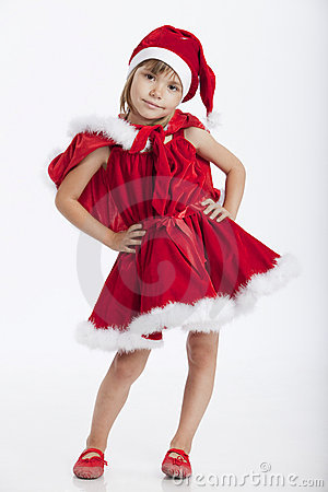 Cute little Miss Santa, 5 years old girl