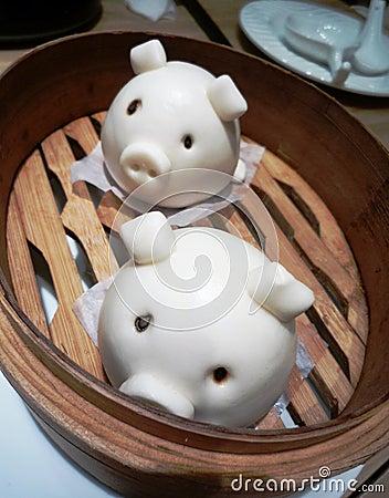 Free Cute Little Piggy Bun Stock Images - 53363664