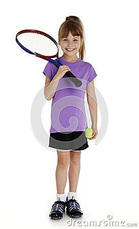 Cute Little Tennis Girl