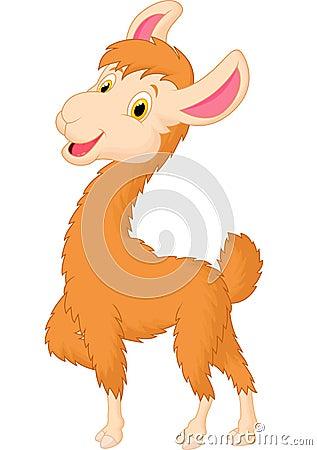 Free Cute Llama Cartoon Stock Photo - 45677930