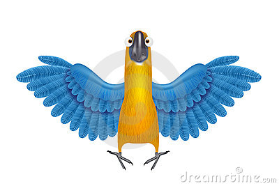 Cute macaw or parrot cartoon