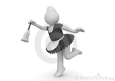 Cute maid at work - Workers