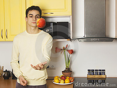 Cute man in the kitchen