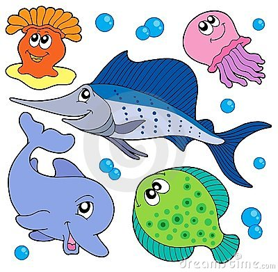 Free Cute Marine Animals Collection 2 Stock Photos - 6466033