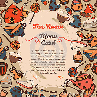 Free Cute Menu Card For Tea Room Stock Photos - 73915993