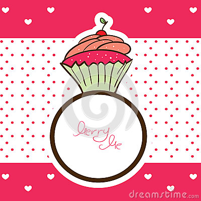 Cupcake ring and marry me message