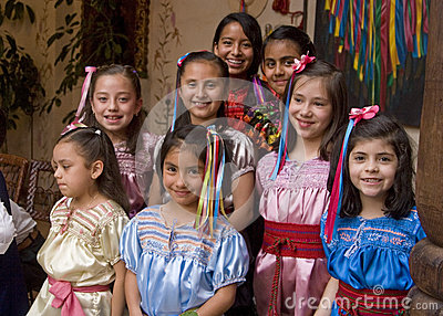 Cute mexican gils Editorial Stock Image