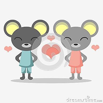 Cute mice in love