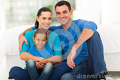 Cute modern family