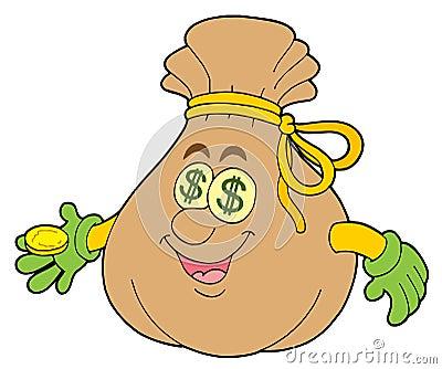Cute money sack