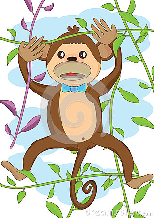 Cute Monkey_eps