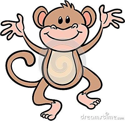 Cute monkey vector illustration
