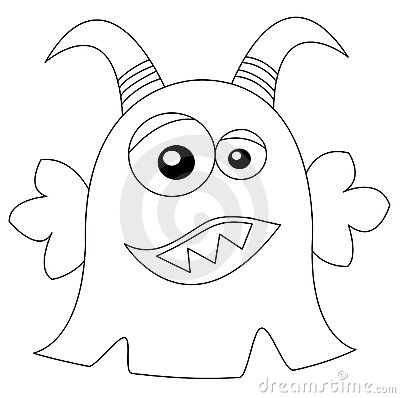 Cute Monster In Black & White Stock Photos - Image: 14780293
