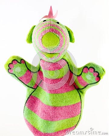 Cute monster hand puppet