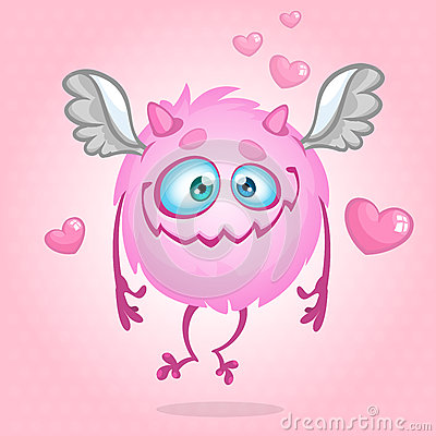Free Cute Monster In Love. Illustration For St Valentine S Day. Vector Royalty Free Stock Images - 65807319