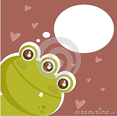 Cute monster in love