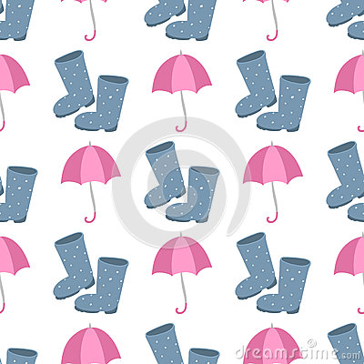 Free Cute Multi Colored Umbrella Rubber Boots In Flat Design Style And Autumn Accessory Concept Fashion Sign Vector Royalty Free Stock Photography - 89580677