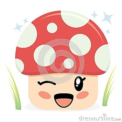Cute Mushroom Character