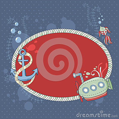 Cute nautical summer sea card