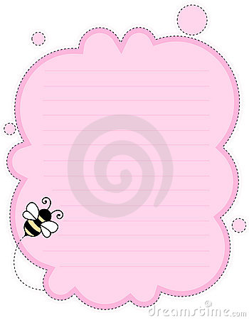 Cute note paper background