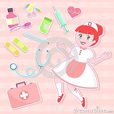 Cute nurse set