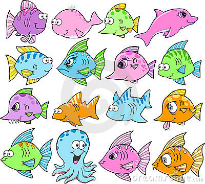 Cute Ocean Creatures Set