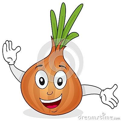 Cute Onion Cartoon Character