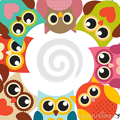 Free Cute Owl Pattern Background With Place For Your Text Vector Illu Stock Images - 77574214