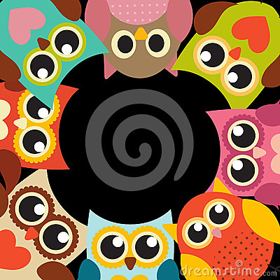 Free Cute Owl Pattern Background With Place For Your Text Vector Illu Royalty Free Stock Image - 77574436